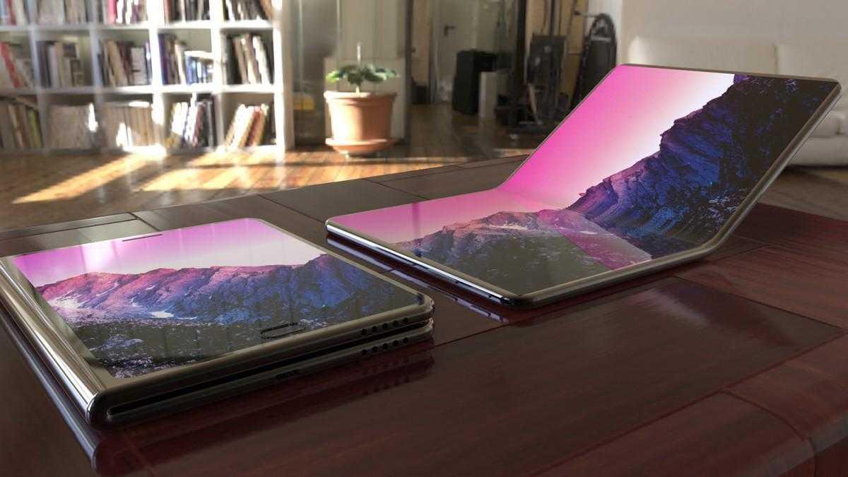 Samsung представил долгожданный гибкий смартфон (samsung foldable oled galaxy phone)