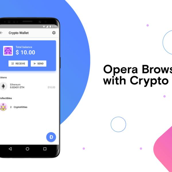 Opera запускает криптовалютный кошелек в браузере для Android (Crypto Wallet Main)