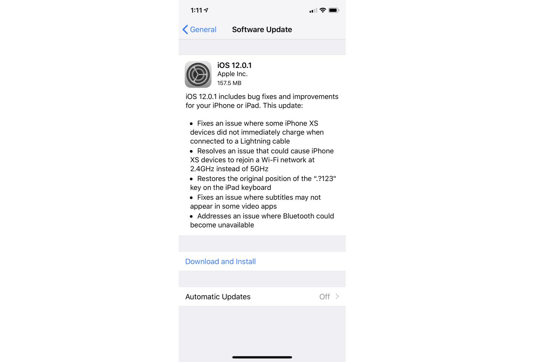 Вышло обновление iOS 12.1.1 для iPhone и iPad (Image from iOS)