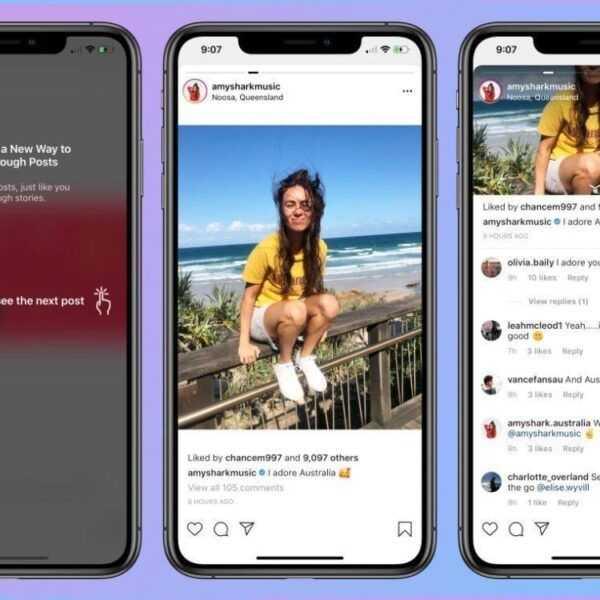Instagram случайно протестировал горизонтальную прокрутку ленты, чем взбесил пользователей (instagram noo)