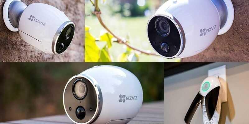 Ezviz выпустил беспроводную камеру наблюдения Mini Trooper (ts mini trooper camera and base station with a 720p wireless outdoor camera)