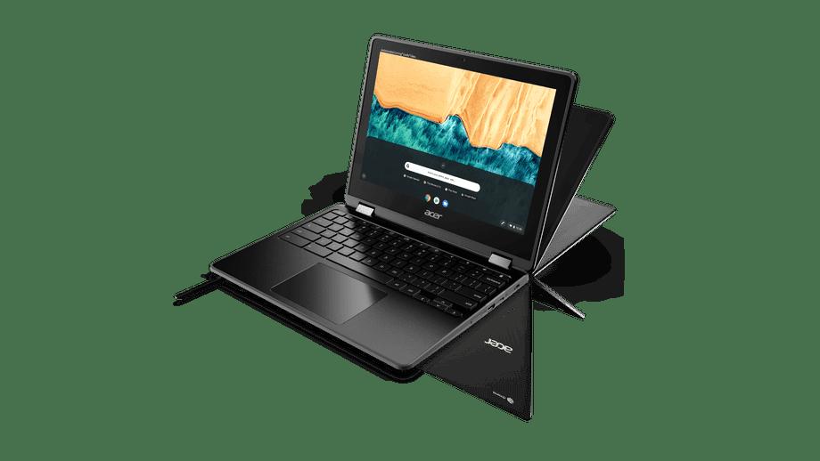Acer анонсировала два 12-дюймовых Chromebook для школьников (Chromebook Spin 512 R851TN modes stylus)