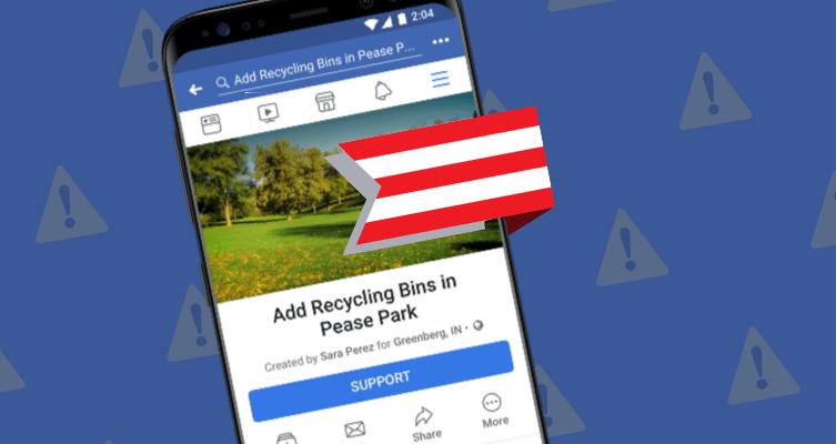 В Facebook теперь есть петиции (Facebook Community Actions)
