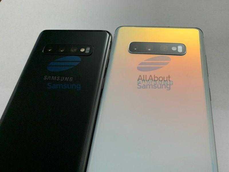 Утекли новые фотографии Samsung Galaxy S10 и S10+ ()