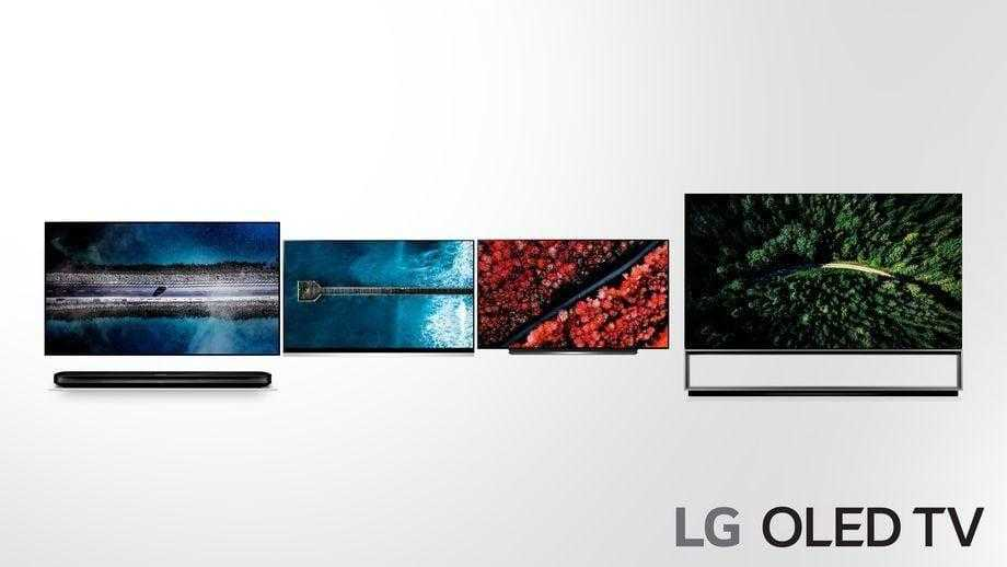CES 2019. LG анонсировал линейку телевизоров (LG OLED TV 2019 adopting more powerful AI 4 W9 E9 C9 Z9 from the left side)