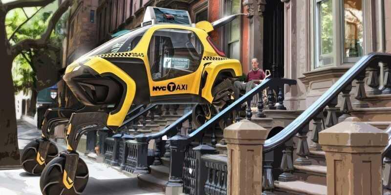 CES 2019. Hyundai представил концепт «шагающего» автомобиля (Large 35012 HyundaiElevateWalkingCarConcept 1 .0)