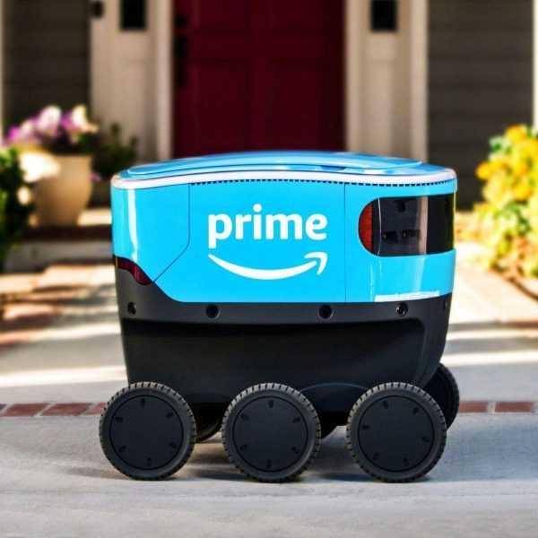 Amazon тестирует робота-почтальона (amazon scout)