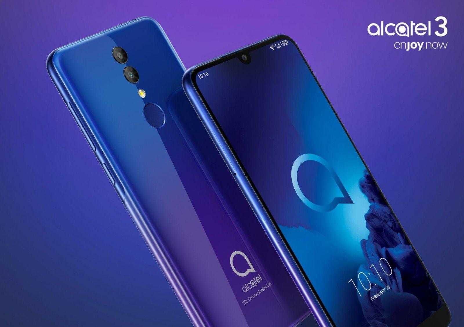 MWC 2019. Alcatel показала смартфоны 3-й серии Alcatel 3 и 3L (Alcatel 3 pressview 01)
