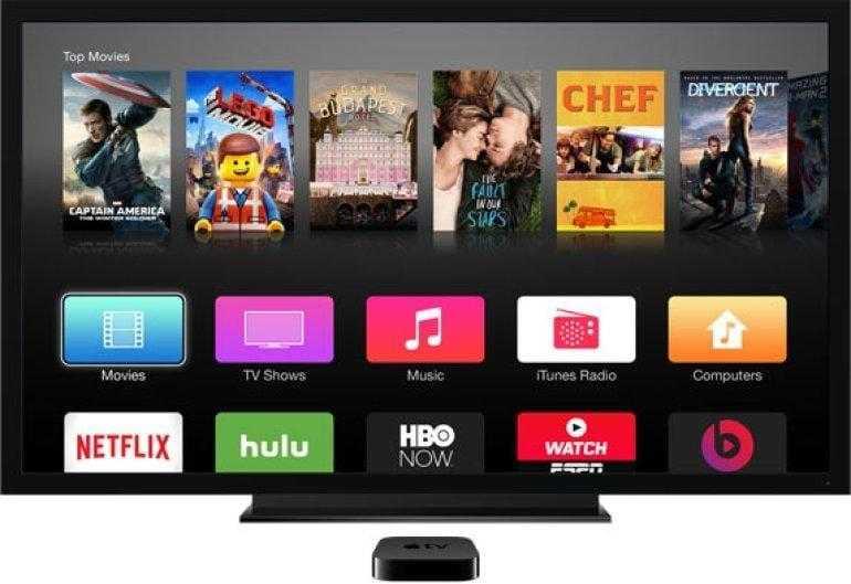 Сервис потокового видео от Apple может появиться уже в апреле (Apple TV screen)