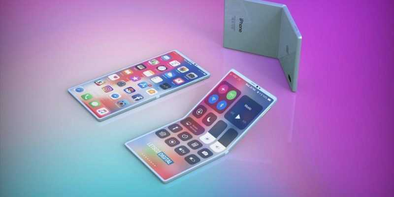 Так может выглядеть складной смартфон Apple (Apple foldable smartphone concept)