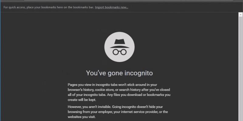 Новая функция Chrome не позволит веб-сайтам блокировать режим инкогнито (Chrome Incognito window with dark theme)