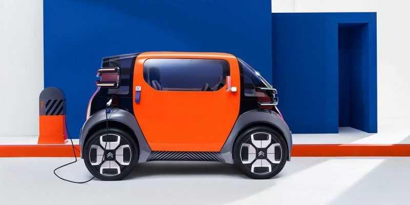 Citroen представил концепцию автомобиля, который сможет составить конкуренцию велосипедам и самокатам (Citroen Ami One 2)