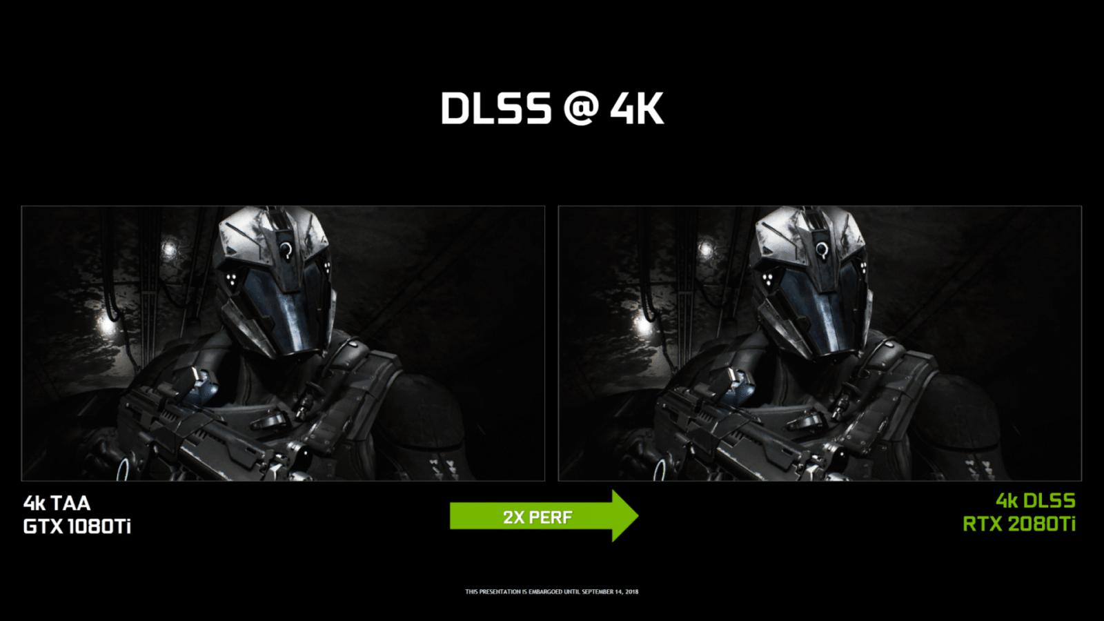 NVIDIA обещает, что DLSS при низких разрешениях будет «главным приоритетом» в будущих обновлениях (NVIDIA GeForce 20 Series Official Turing NGX DNN DLSS Performance 4K 1)