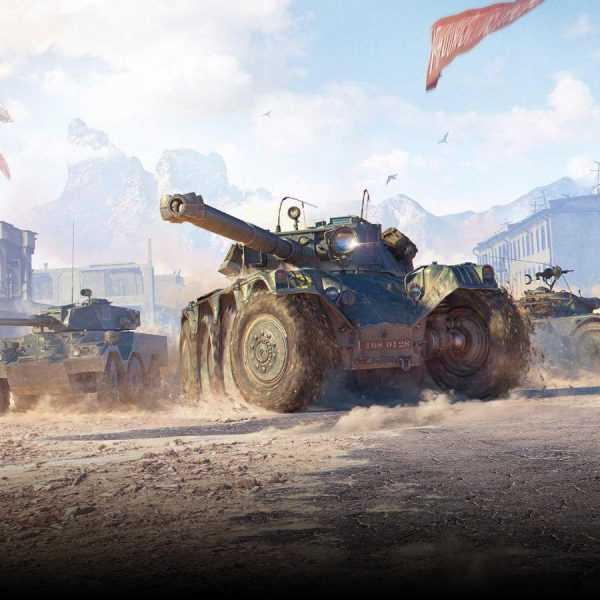 В World of Tanks появились колёсные бронемашины (WOT Wheeled Vehicles Key Art 1)