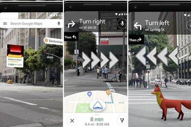 Google тестирует дополненную реальность в картах (ad composite google map ar 1)