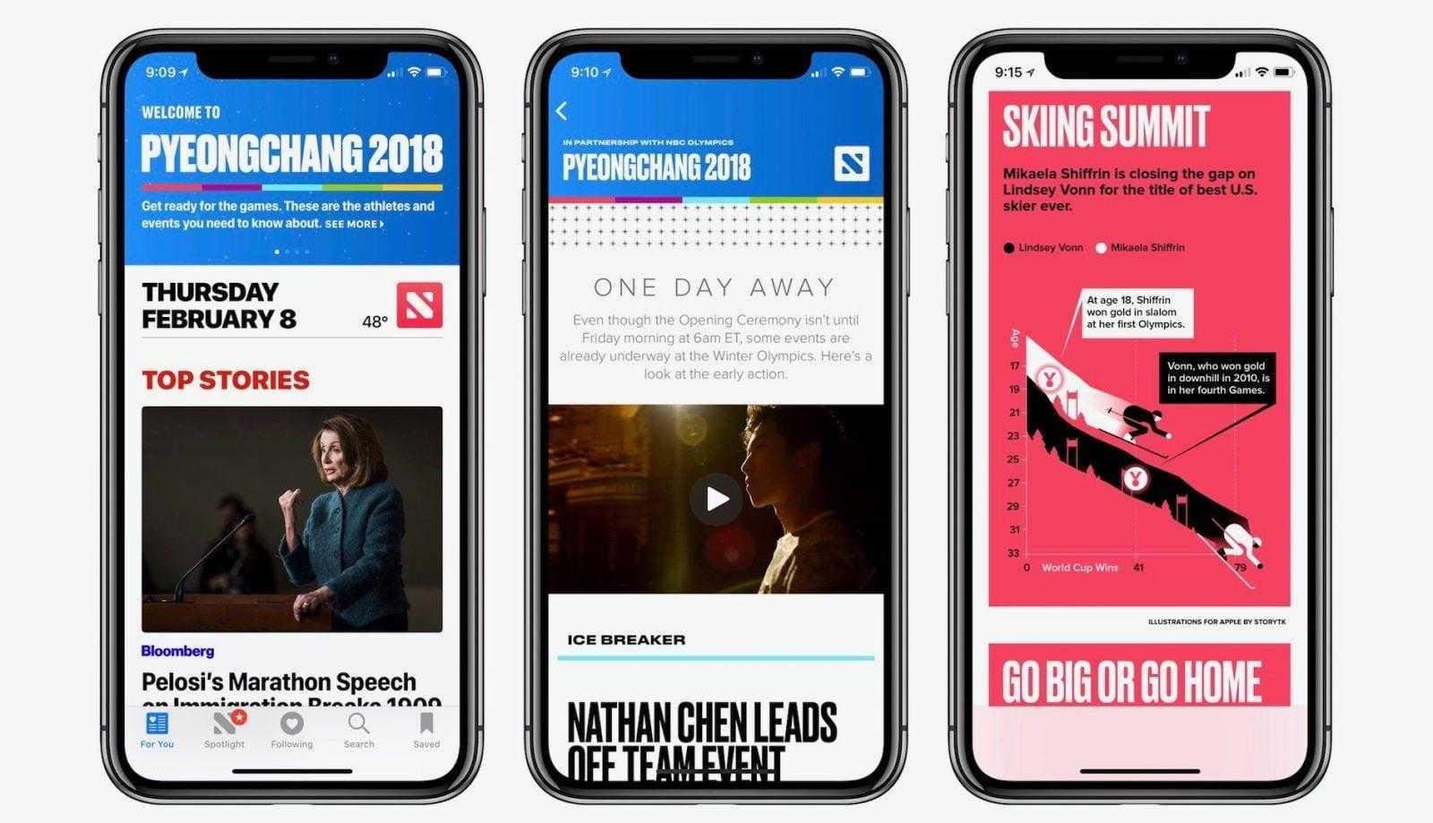 Apple анонсирует новый сервис 25 марта (apple news 2018 olympics)