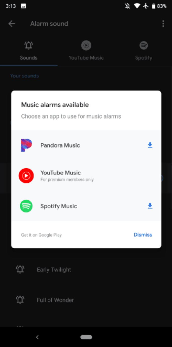 Приложение Google Часы получило поддержку YouTube Music (clock)
