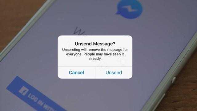 Facebook разрешил удалять сообщения в Messenger (facebook messenger unsend msg)