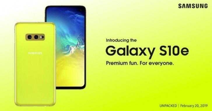 В сети засветился постер Galaxy S10e (gsmarena 000 2)