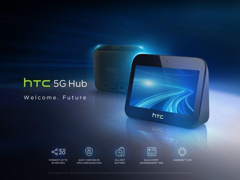 MWC 2019. HTC анонсировала концентратор HTC 5G Hub (htc 5g hub promo)