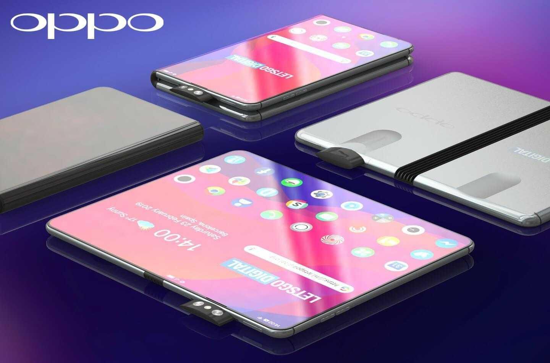 MWC 2019. Складной смартфон Oppo появился на рендерах (oppo opvouwbare telefoon)
