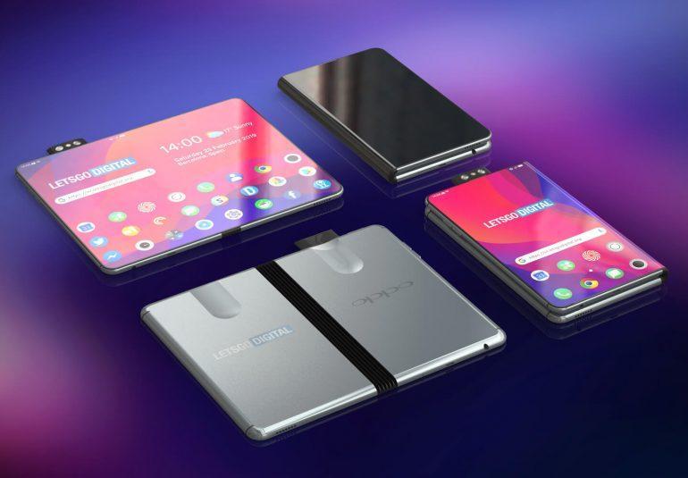 MWC 2019. Складной смартфон Oppo появился на рендерах (opvouwbare oppo telefoon)