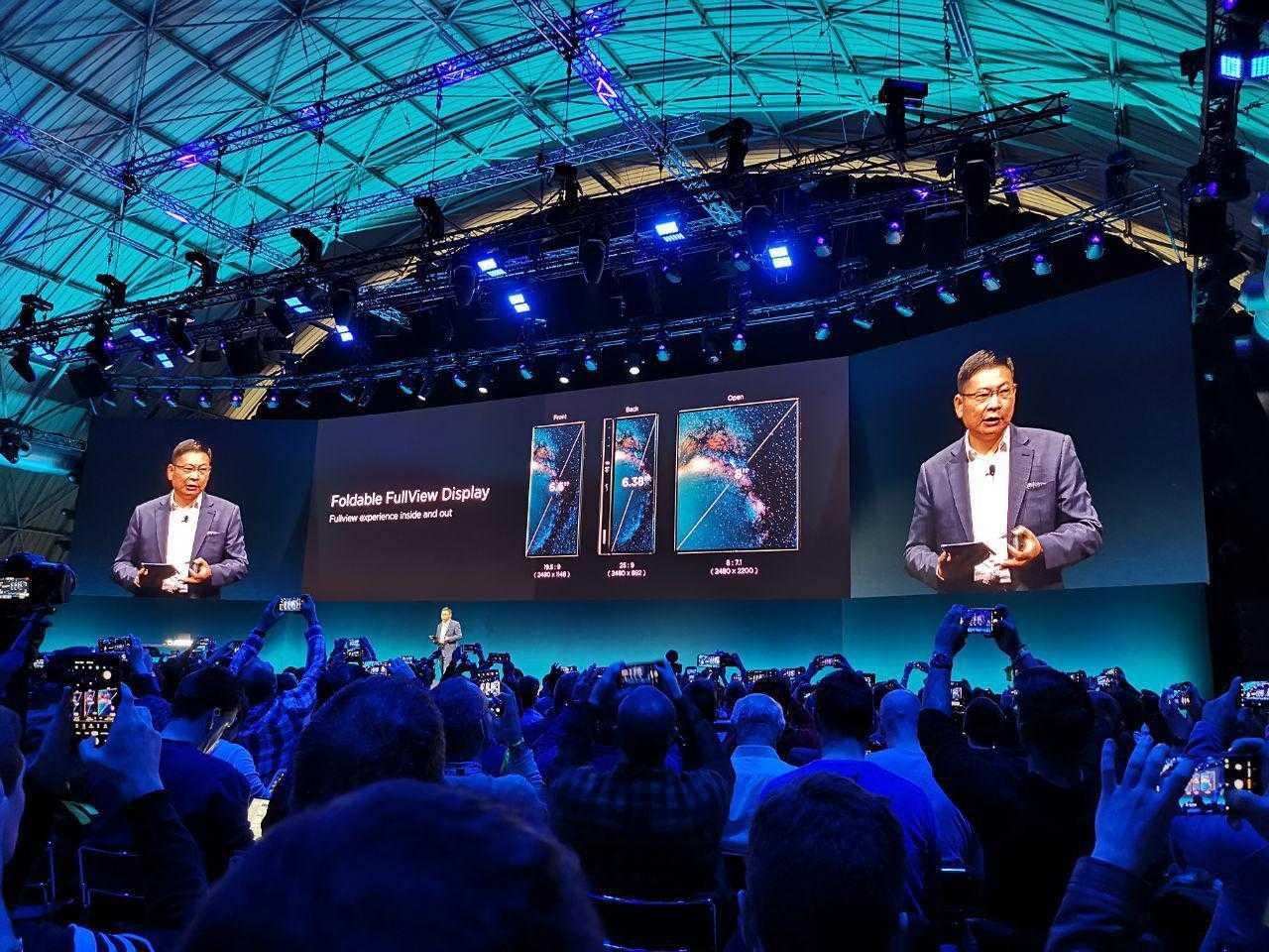 MWC 2019. Huawei представила свой первый сгибающийся смартфон Huawei Mate X с поддержкой 5G (photo 2019 02 24 17 28 00)