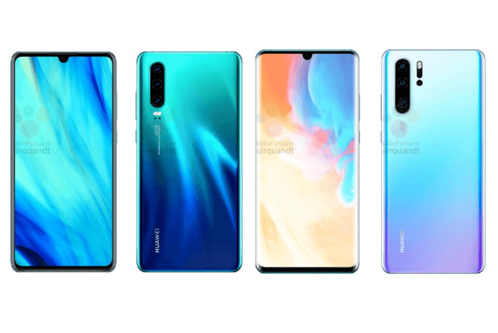 В сеть просочились рендеры Huawei P30 и P30 Pro (render1)