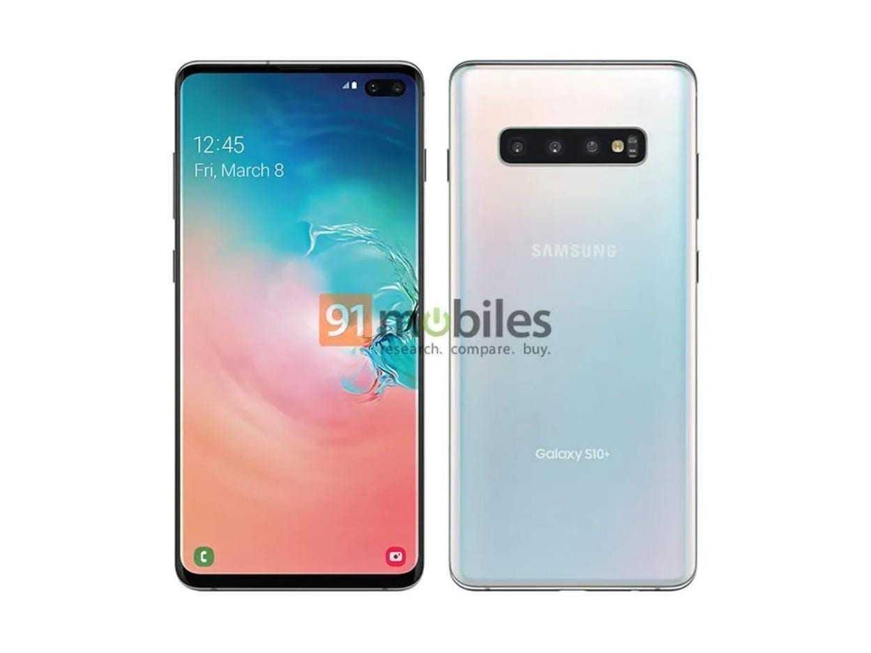 Всё о Samsung Galaxy S10: новости, слухи, дата выхода, тех. характеристики и другое (samsung galaxy s10 plus official render 91 mobiles)