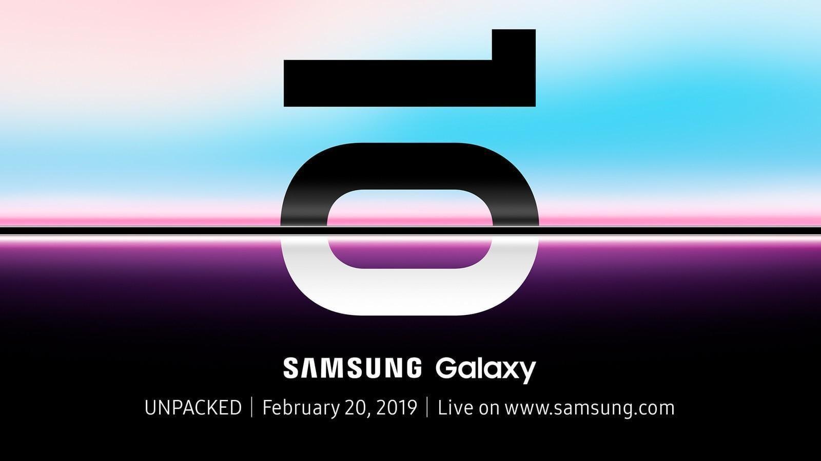 Всё о Samsung Galaxy S10: новости, слухи, дата выхода, тех. характеристики и другое (samsung galaxy unpackd 2019 official invitation)