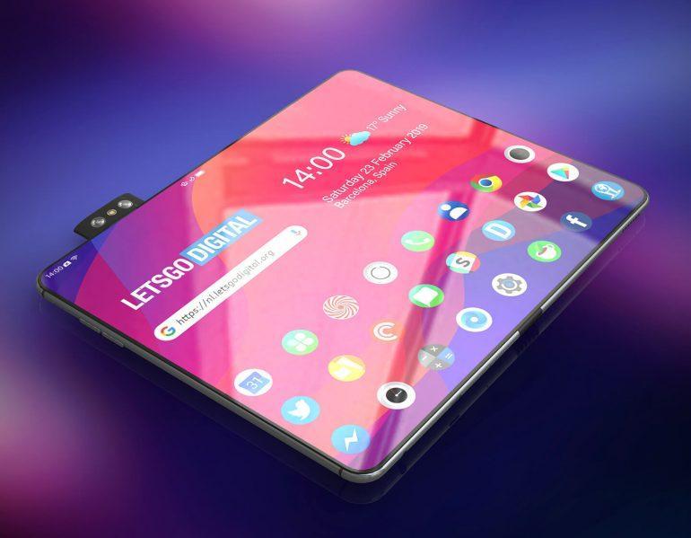 MWC 2019. Складной смартфон Oppo появился на рендерах (vouwbare telefoon)