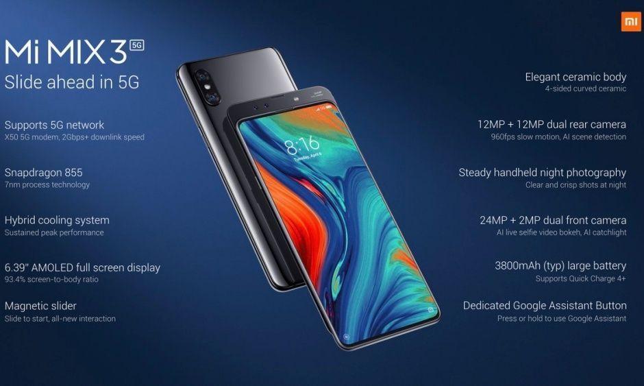 MWC 2019. Xiaomi представила свой первый 5G-смартфон (xiaomi mi mix 3 5g specs)