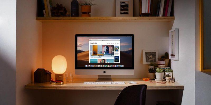 Apple выпустила обновлённые iMac с процессорами Intel 9-го поколения и видеокартами Vega (apple imac gets 2x more performance home office 03192019)