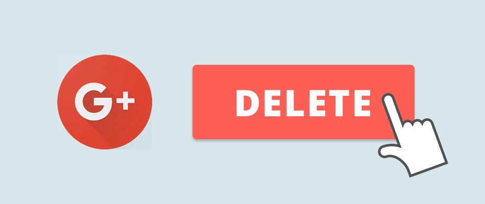 The Internet Archive работает над сохранением общедоступных постов в Google+ до её закрытия (delete google account banner)