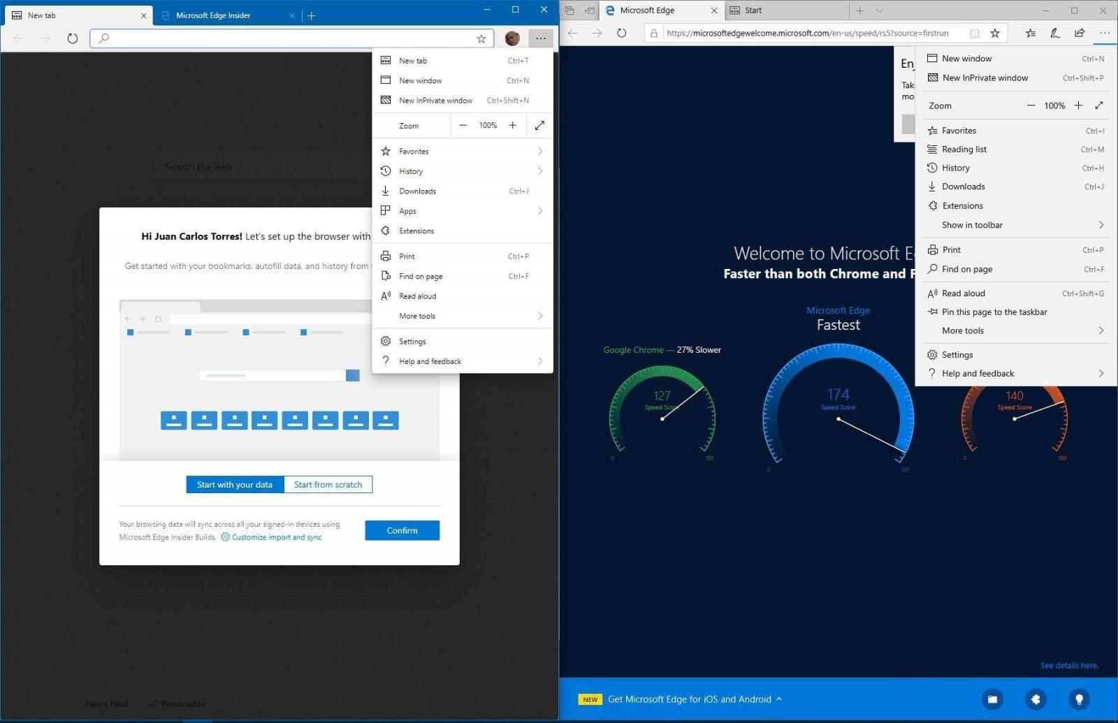 Рассекречен браузер Microsoft Edge на основе Chromium (edge chormium 2 1)