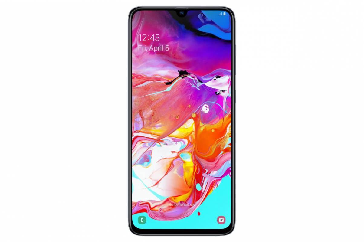 Samsung представила смартфон Samsung Galaxy A70 (galaxya70 white front)