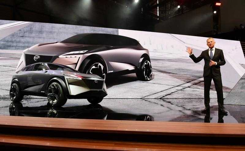 Концепт-кар Nissan IMQ похож на стелс-истребитель, а не на кроссовер (geneva motor show 2019 nissan press conference)