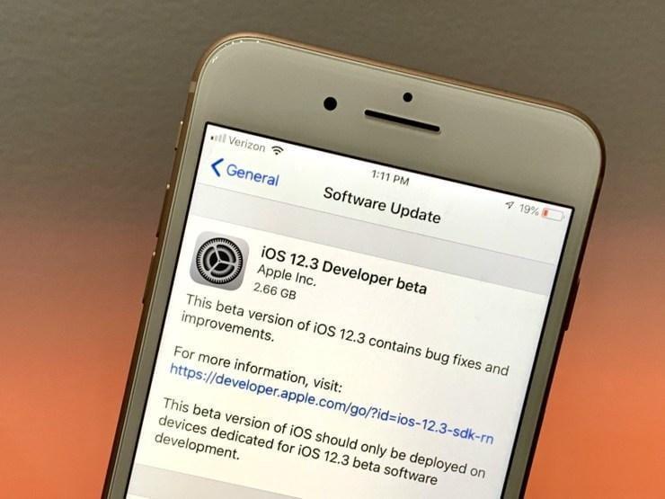 Доступна первая бета-версия iOS 12.3 для разработчиков (ios 12 3 update 3)