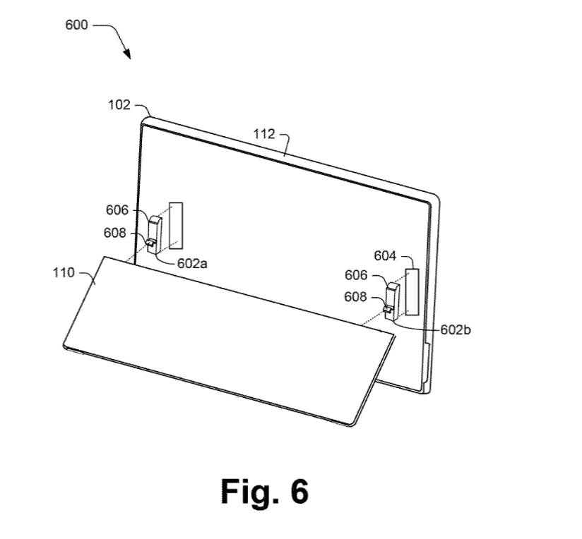 Патент Microsoft показывает улучшение подставки Surface Pro (microsoft files a patent for an improved surface pro kickstand 1)