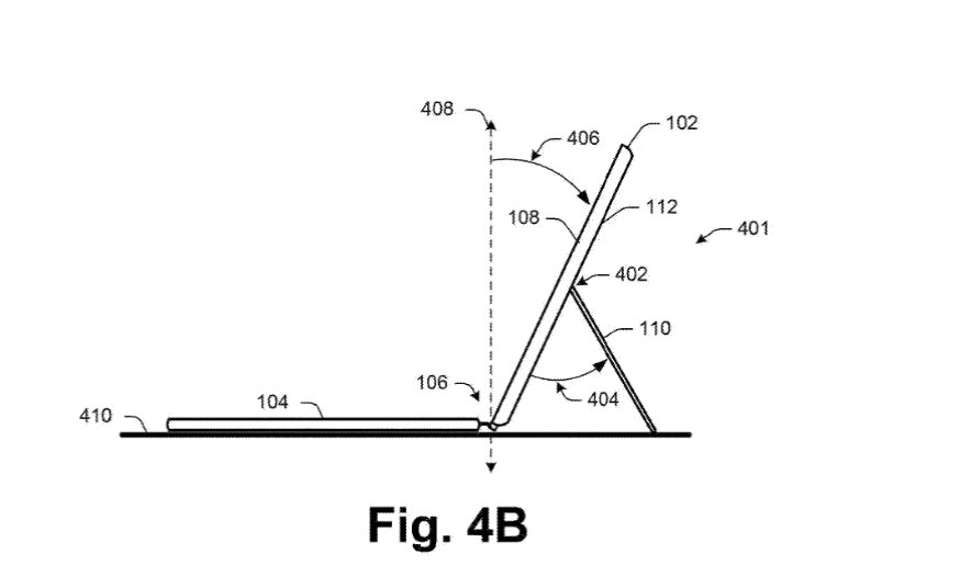 Патент Microsoft показывает улучшение подставки Surface Pro (microsoft files a patent for an improved surface pro kickstand 2)
