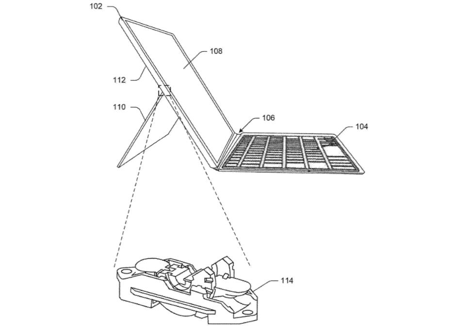 Патент Microsoft показывает улучшение подставки Surface Pro (microsoft files a patent for an improved surface pro kickstand)