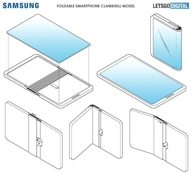Патент Samsung показывает, что следующий складной смартфон будет похож Huawei Mate X (samsung opvouwbare telefoon)