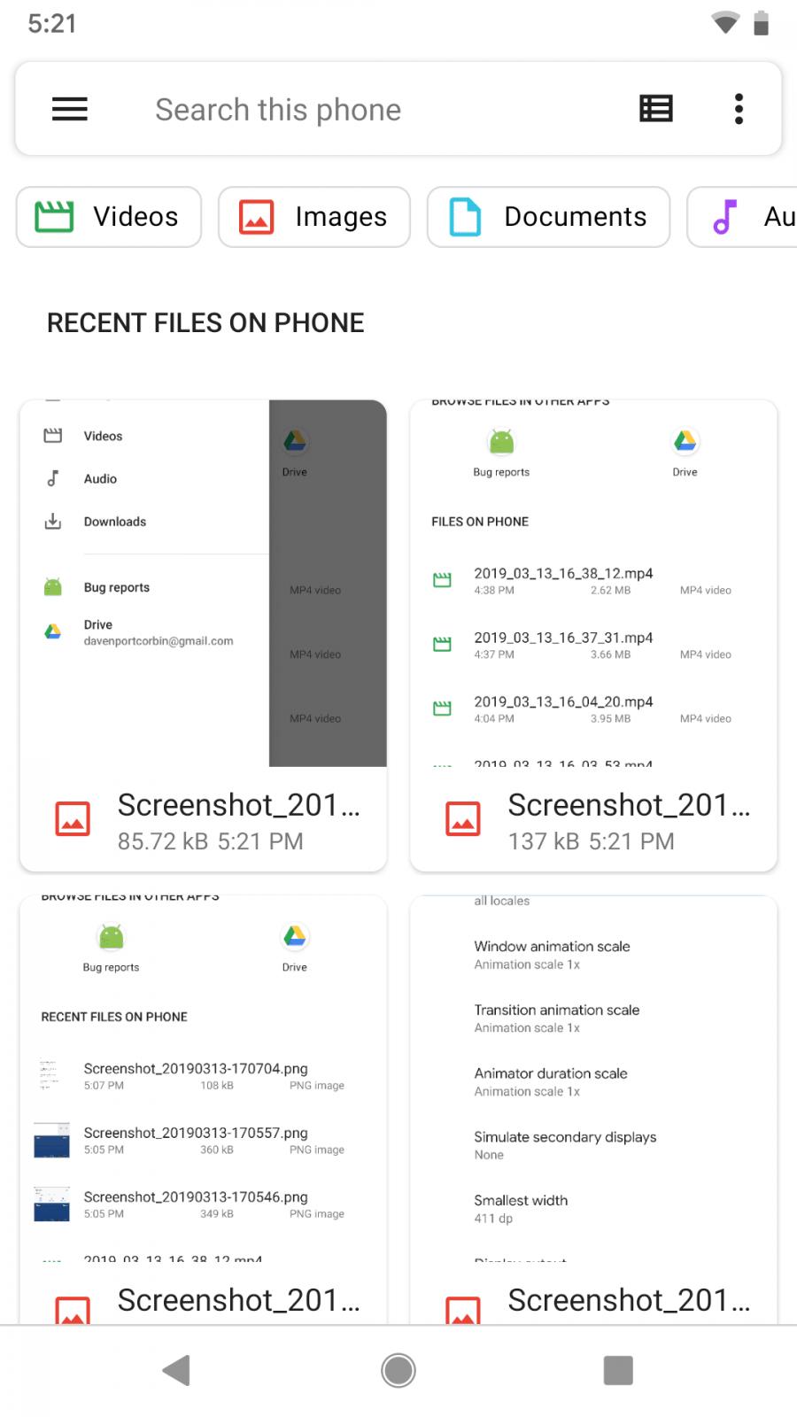 Android Q: Google обновила файловый менеджер Files. Теперь с Material Design и фильтрами (screenshot 20190313 172138)