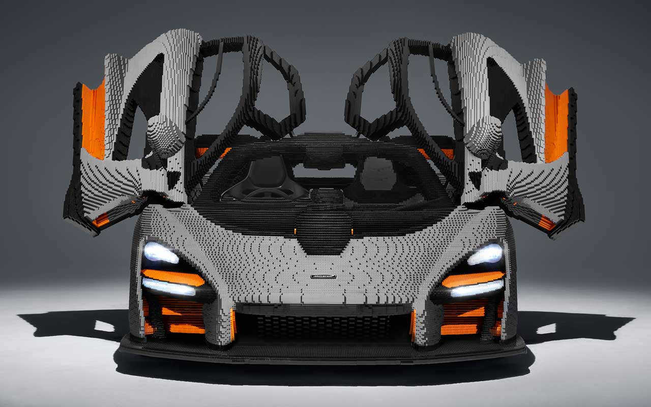 McLaren Senna собрали из Lego и он весит больше оригинала (senna lego 1)