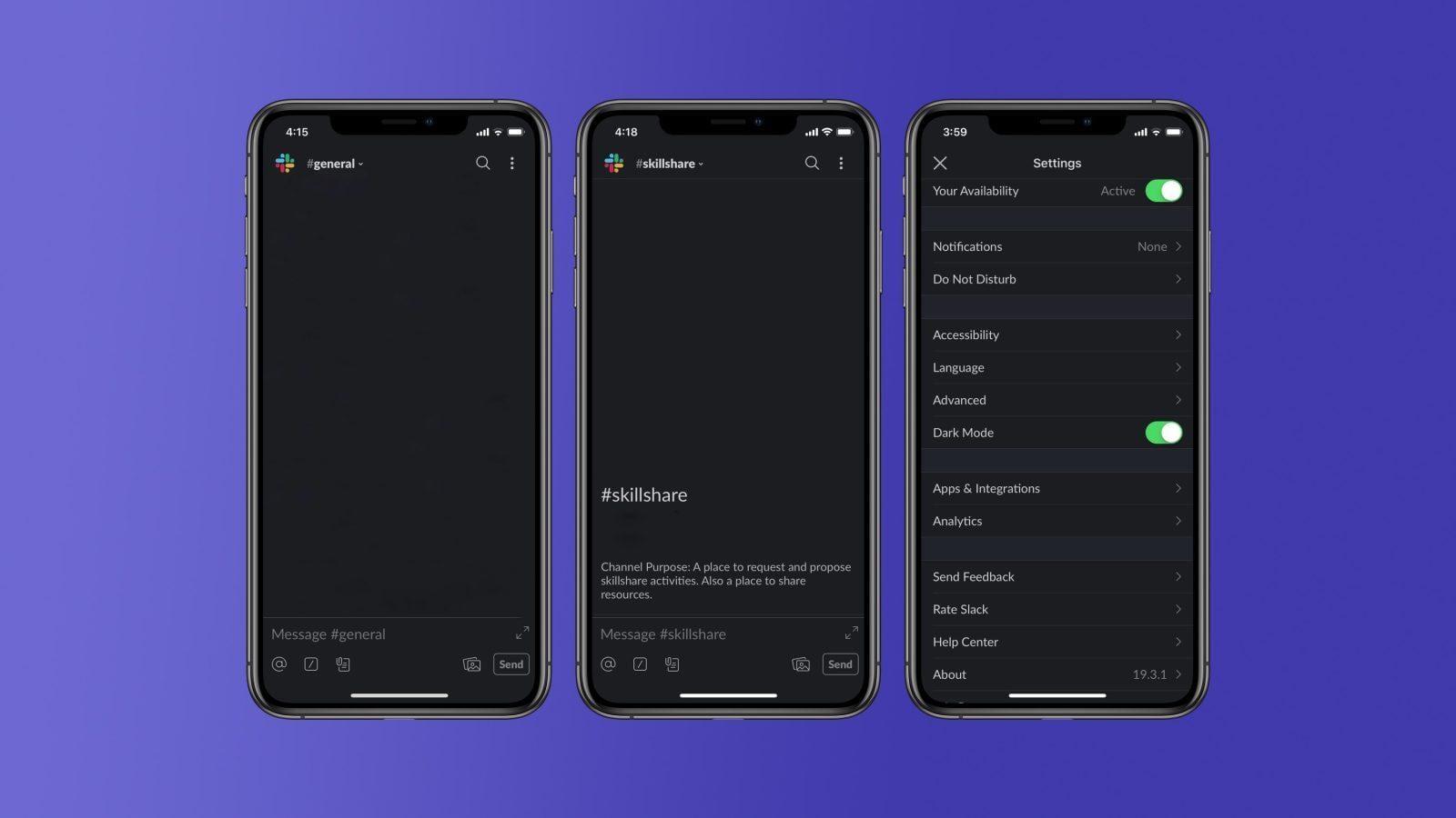 Slack начал тестировать темный режим на iOS и Android. Как его включить? (slack dark mode final)