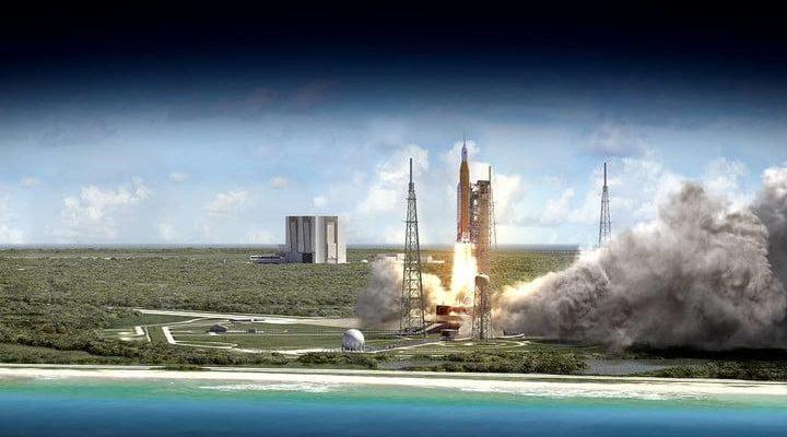 NASA рассказала о системе запуска следующего поколения. Первая миссия уже в 2020 (sls 70mt dac3 orange launch from ocean uhr21 720x720 1)