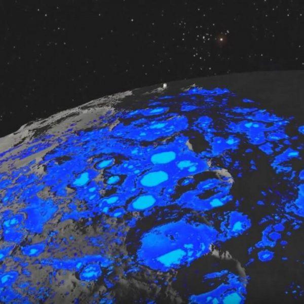 Ученые обнаружили движущуюся воду на Луне (water on the moon)