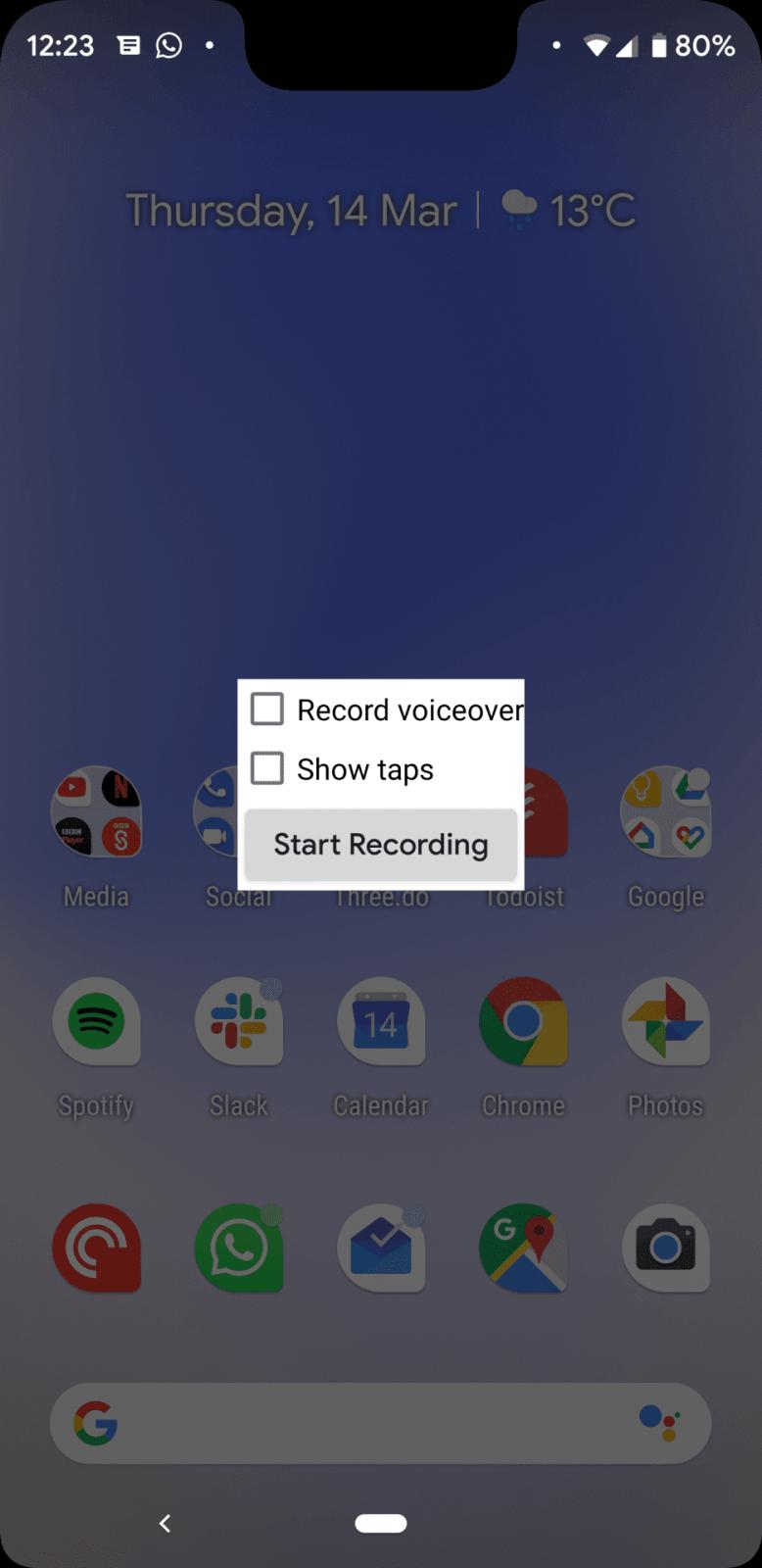 Обзор бета-версии Android Q. Первые впечатления (zapis jekrana 3)
