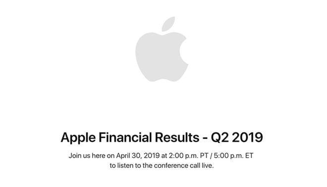 Apple 30-го апреля объявит о прибыли за второй квартал 2019 года (30413 49894 190401 earnings l)