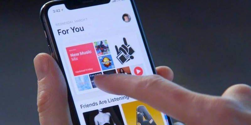 "Apple сделает раздел Apple Music ""Для вас"" еще более персонализированным (apple iphone x apple music search for songs with lyrics 800x480 1)"